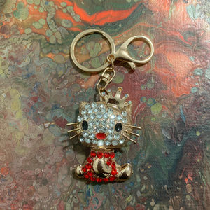 Accessories - KITTEN bejeweled keychain